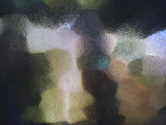 View through frosted glass